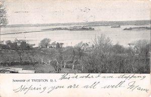 1906 Bird's Eye View of homes & Tiverton shoreline