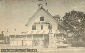 Stone Bridge Inn & Doughboy Statue in 1950